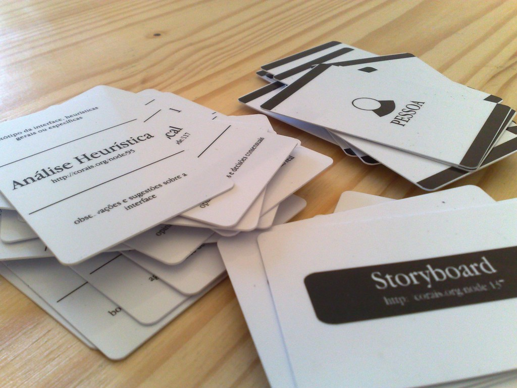 image of the second prototype of UX cards (corais.org)
