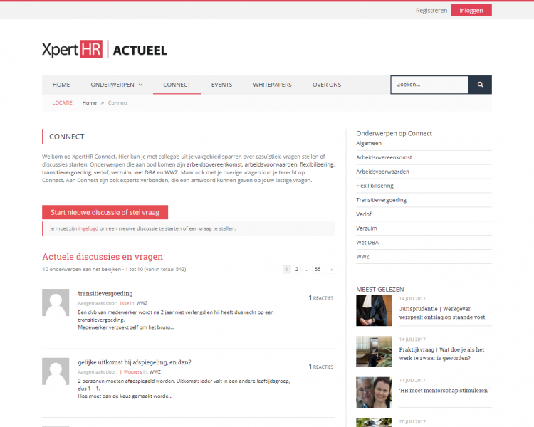 The Q&A platform on XpertHR actueel for HR related questions from and by HR professionals