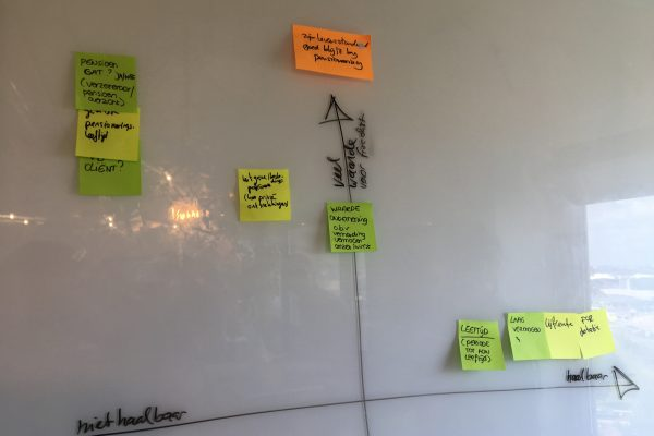 Identified advice opportunities were grouped in sections and then put on a scale of customer value and technical feasibility.