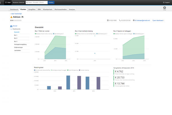 Based on many interviews, internal brainstorms and a creative session with customers, the initial dashboard was released to a small group of testers for them to trial.